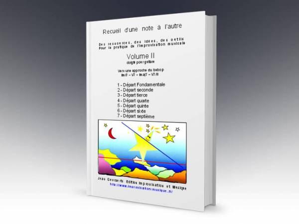 1ère de couverture du volume 2 du recueil D'une note à l'autre