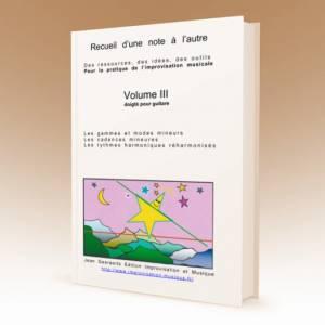 1ère de couverture du volume 3 du recueil D'une note à l'autre