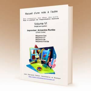 1ère de couverture du volume 6 du recueil D'une note à l'autre