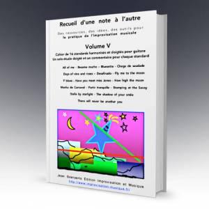 1ère de couverture du volume 5 du recueil D'une note à l'autre