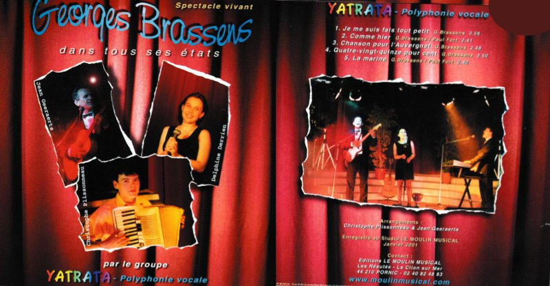 Album Brassens dans tous ses etats par le trio Yatrata