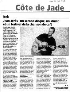 Article de presse sur l'album Rêves d'amour et de mer de Jean Geeraerts